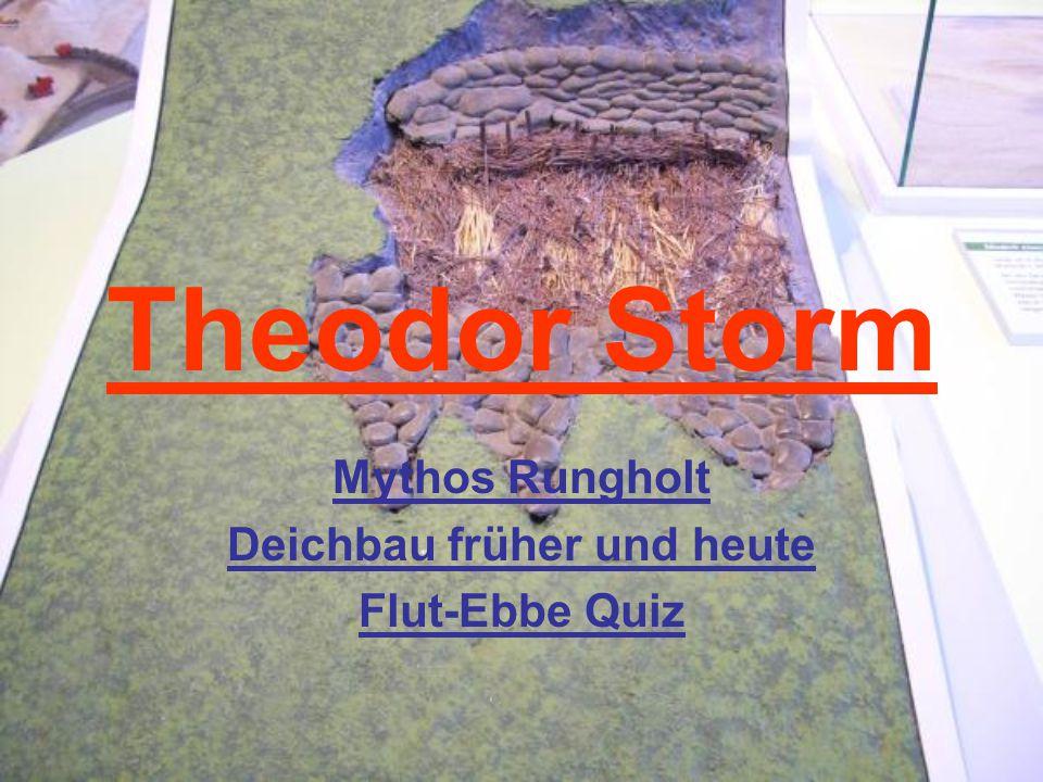 Theodor Storm Mythos Rungholt Deichbau früher und heute Flut-Ebbe Quiz