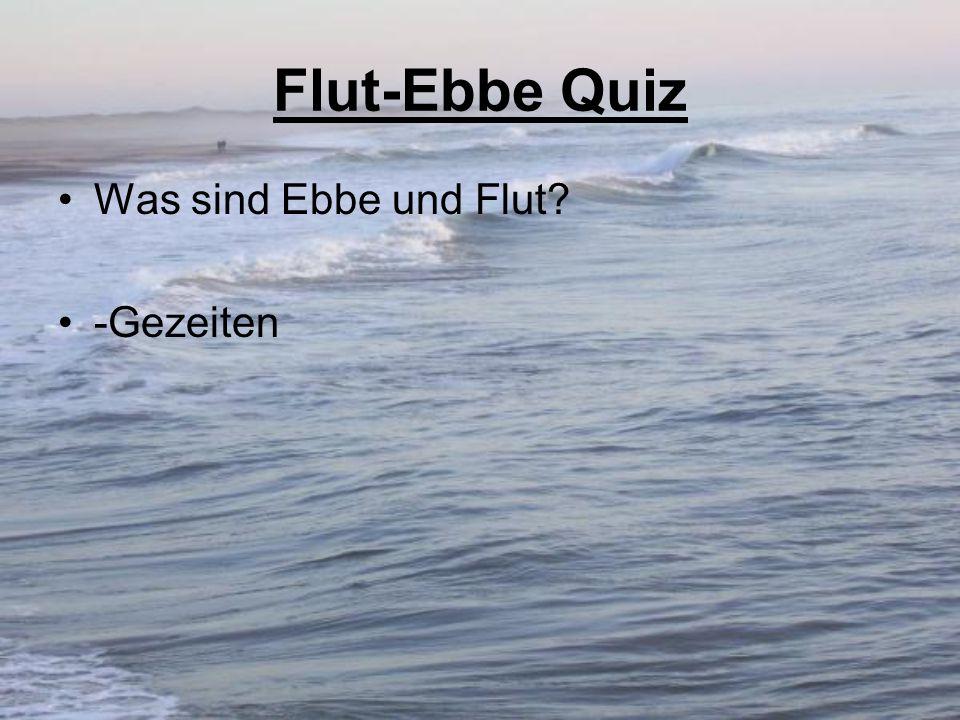 Flut-Ebbe Quiz Was sind Ebbe und Flut? -Gezeiten