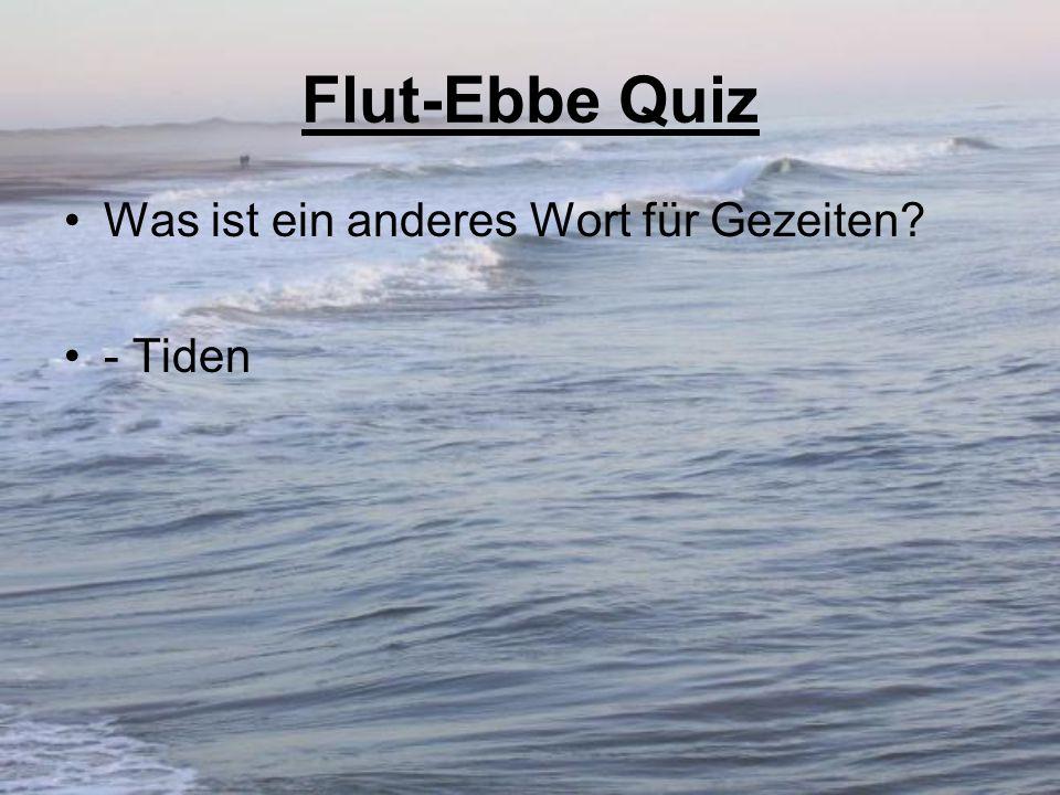 Flut-Ebbe Quiz Was ist ein anderes Wort für Gezeiten? - Tiden