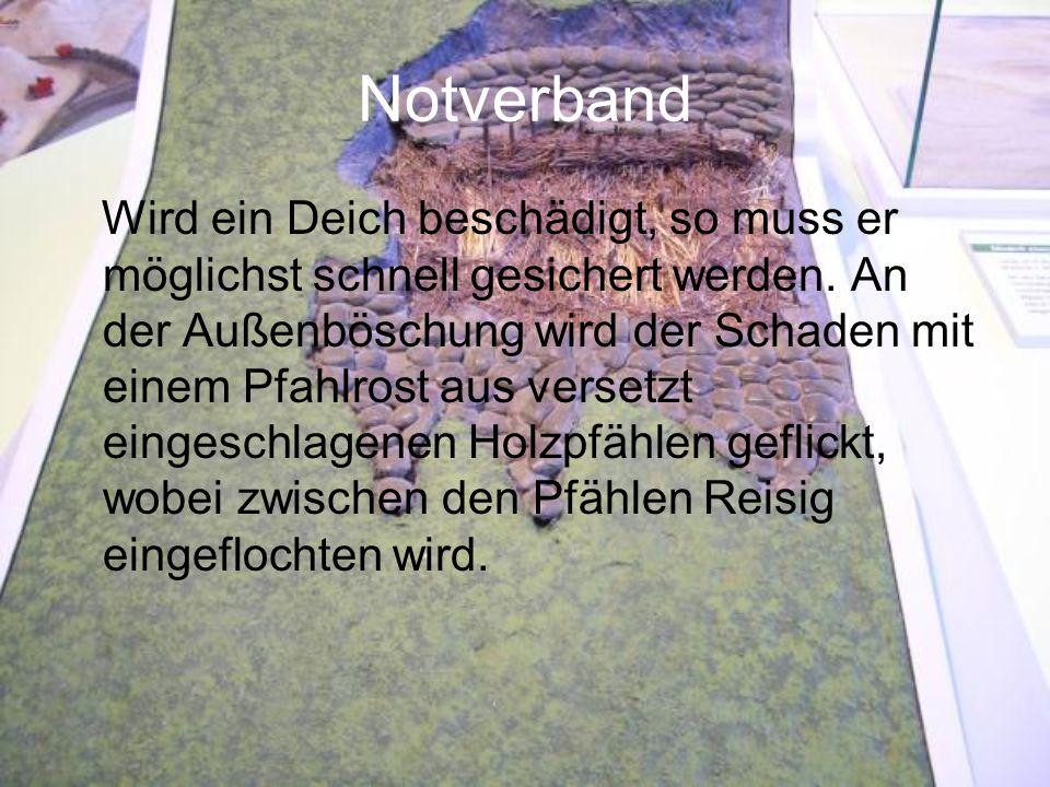 Modell eines Schneidkopfsaugbaggers Länge:28m Pumpleistung: 4660 cbm/h Bei den Deichbauarbeiten am Friedrich- Willhelm-Lübke-Koog 1954 kam ein Schneidkopfsaugbagger, wie das hier gezeigte Modell, zum Einsatz.