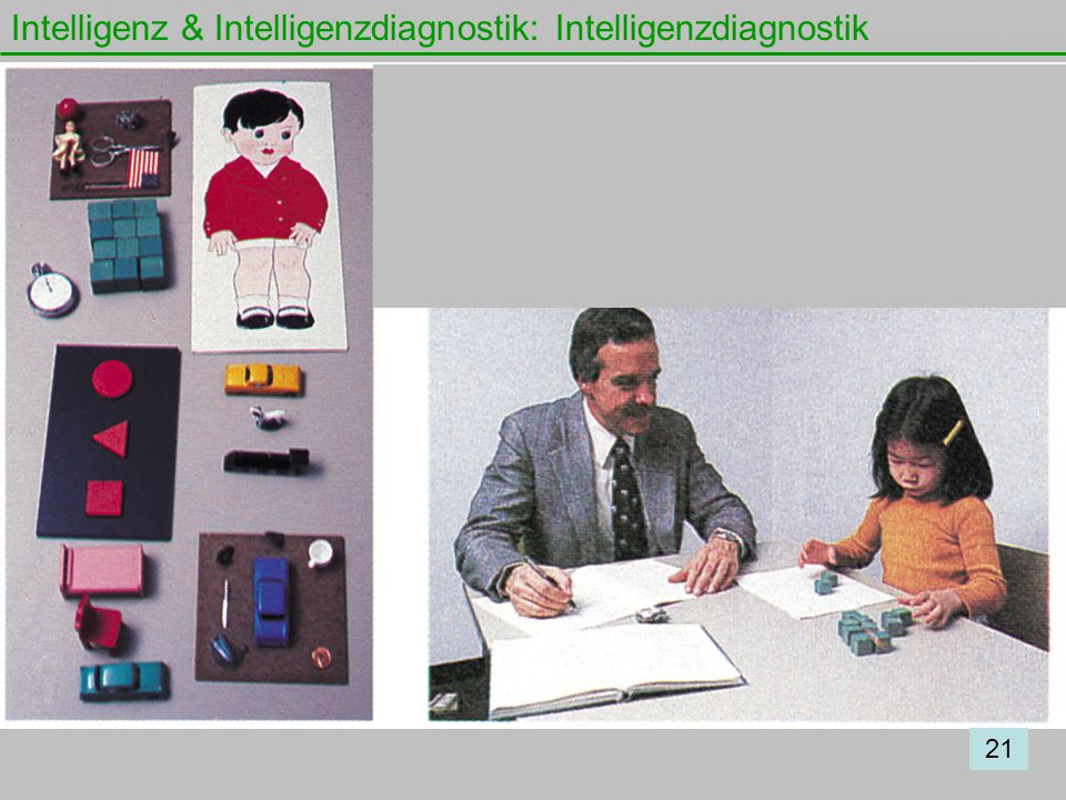 Intelligenz & Intelligenzdiagnostik: Intelligenzdiagnostik 21