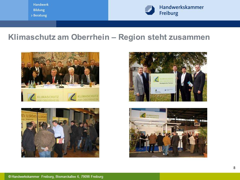 © Handwerkskammer Freiburg, Bismarckallee 6, 79098 Freiburg 8 Klimaschutz am Oberrhein – Region steht zusammen