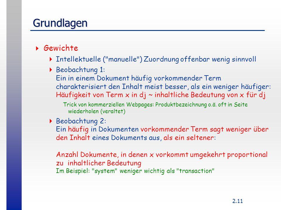 2.11 Grundlagen  Gewichte  Intellektuelle (