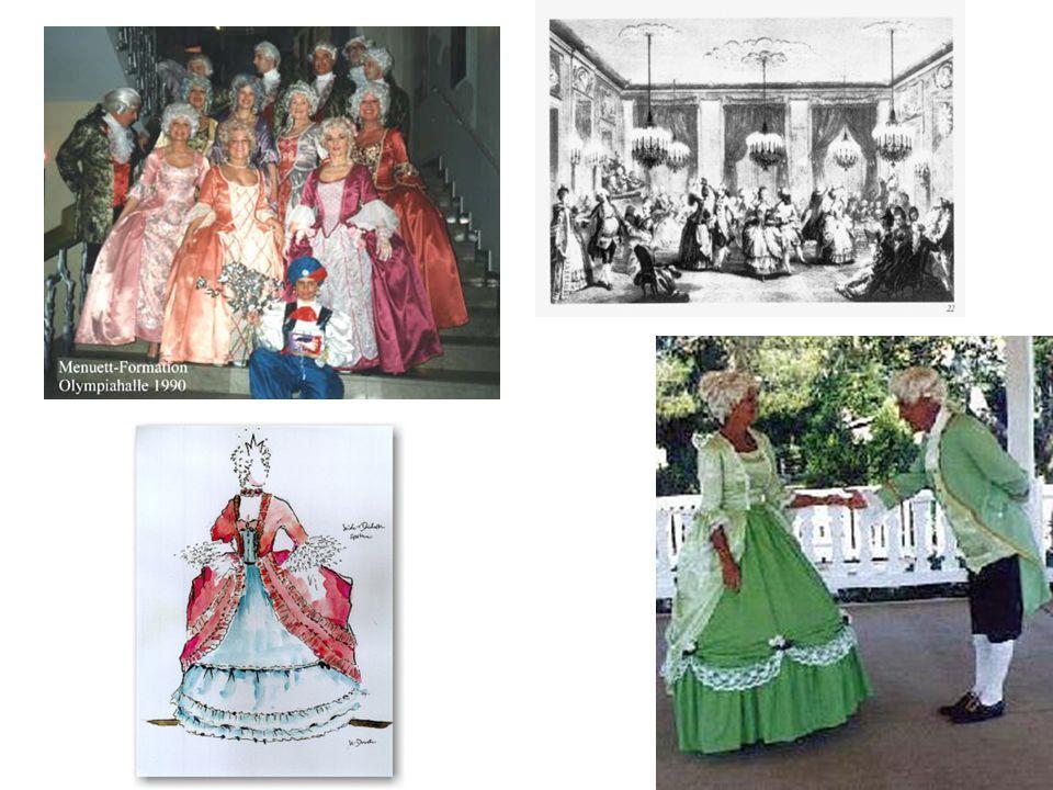 ...Menuett: französischer Paar-Tanz in mäßig schnellem Dreiertakt. Von Versailles aus verbreitete es sich über ganz Europa -galante Posen -zierliche V