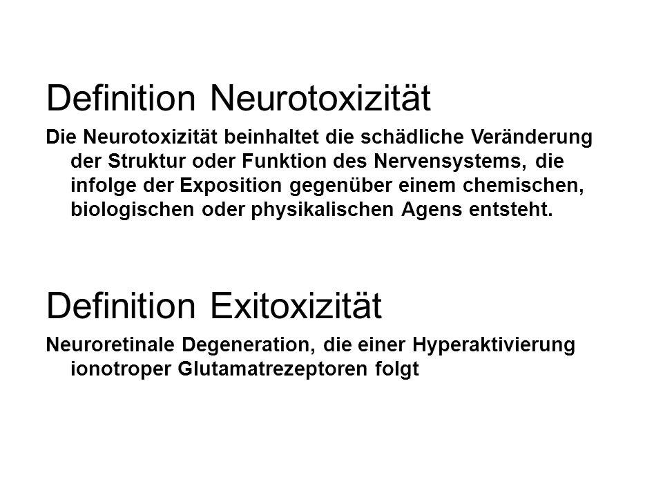 Definition Neurotoxizität Die Neurotoxizität beinhaltet die schädliche Veränderung der Struktur oder Funktion des Nervensystems, die infolge der Exposition gegenüber einem chemischen, biologischen oder physikalischen Agens entsteht.