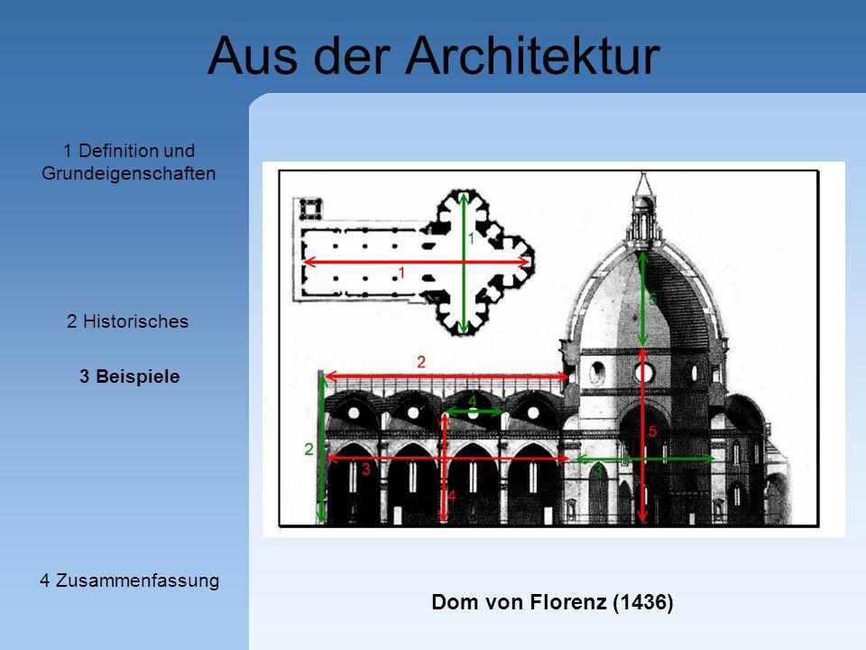 Aus der Architektur Dom von Florenz (1436) 1 Definition und Grundeigenschaften 2 Historisches 3 Beispiele 4 Zusammenfassung