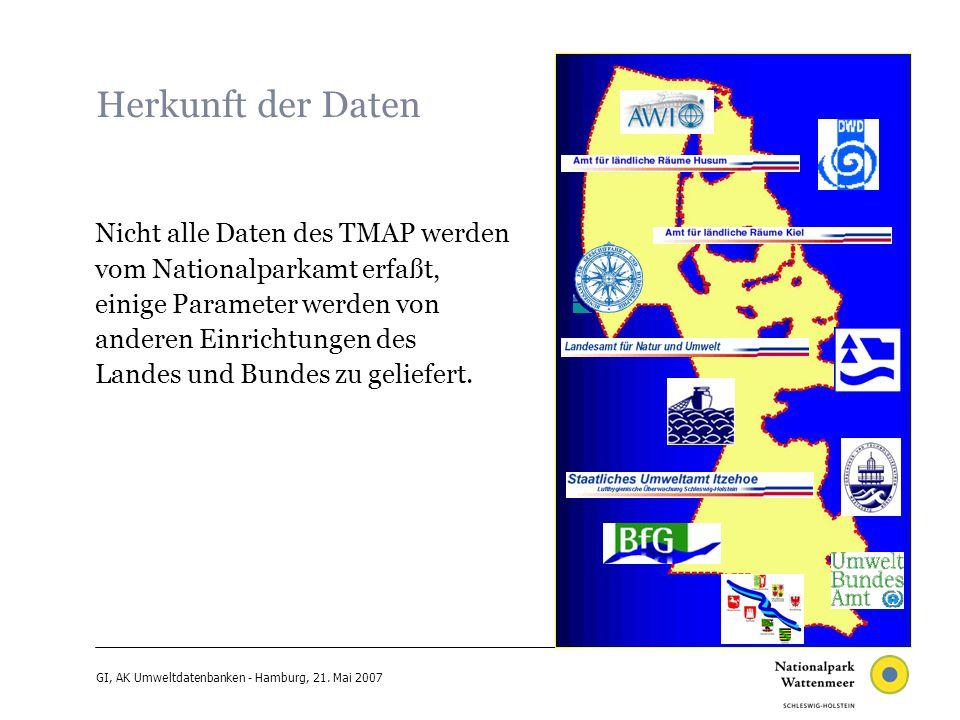 GI, AK Umweltdatenbanken - Hamburg, 21. Mai 2007 CadenzaPro: load existing shp-files; seals