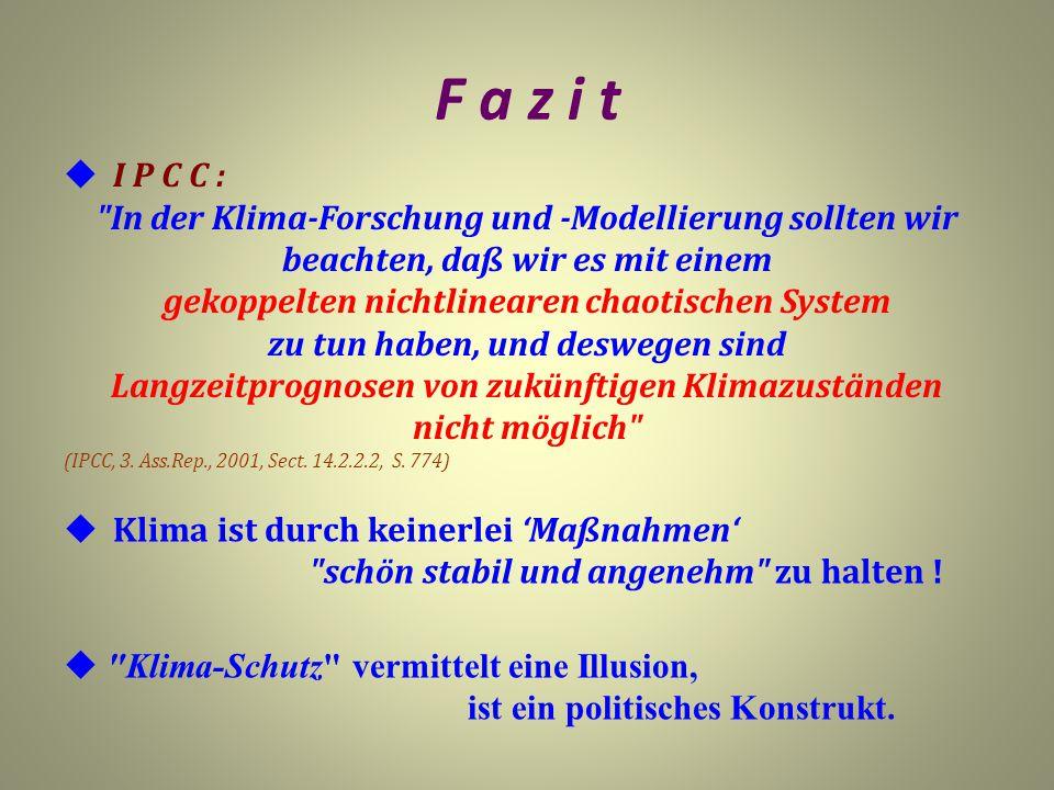 F a z i t  I P C C :