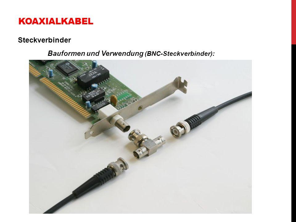 KOAXIALKABEL Steckverbinder Bauformen und Verwendung (BNC-Steckverbinder):