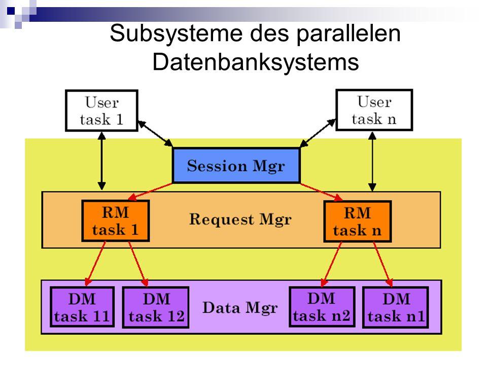 Subsysteme des parallelen Datenbanksystems