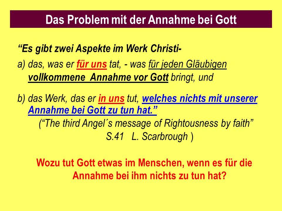 """""""Es gibt zwei Aspekte im Werk Christi- a)das, was er für uns tat, - was für jeden Gläubigen vollkommene Annahme vor Gott bringt, und b) das Werk, das"""