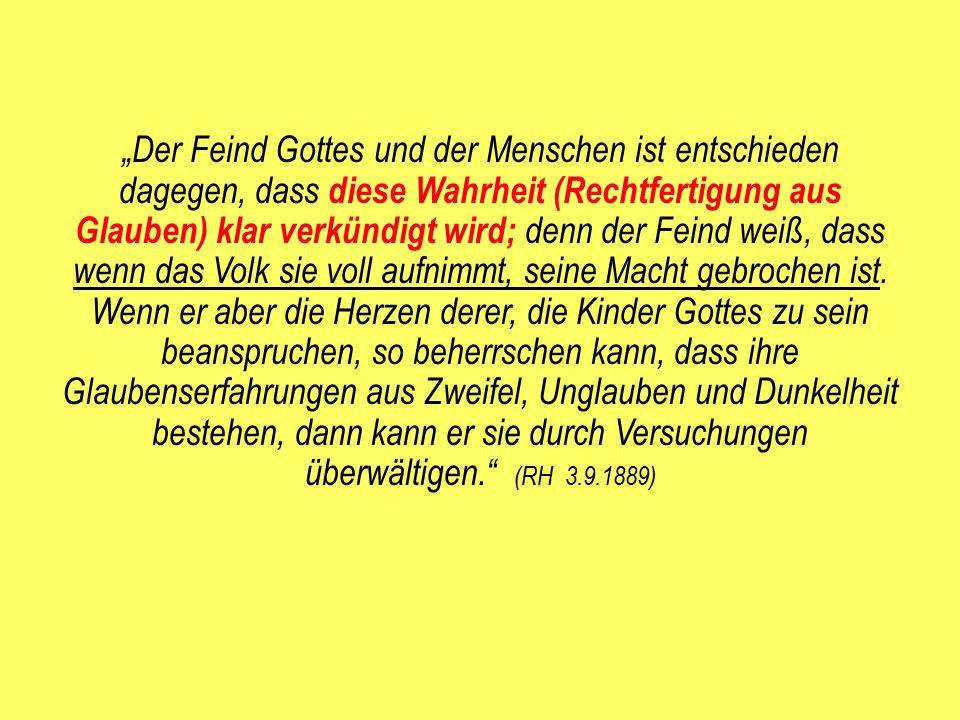 """Eine Warnung im Zusammenhang mit dem Konflikt um 1888 Aus """"Zeugnisse für Prediger S."""
