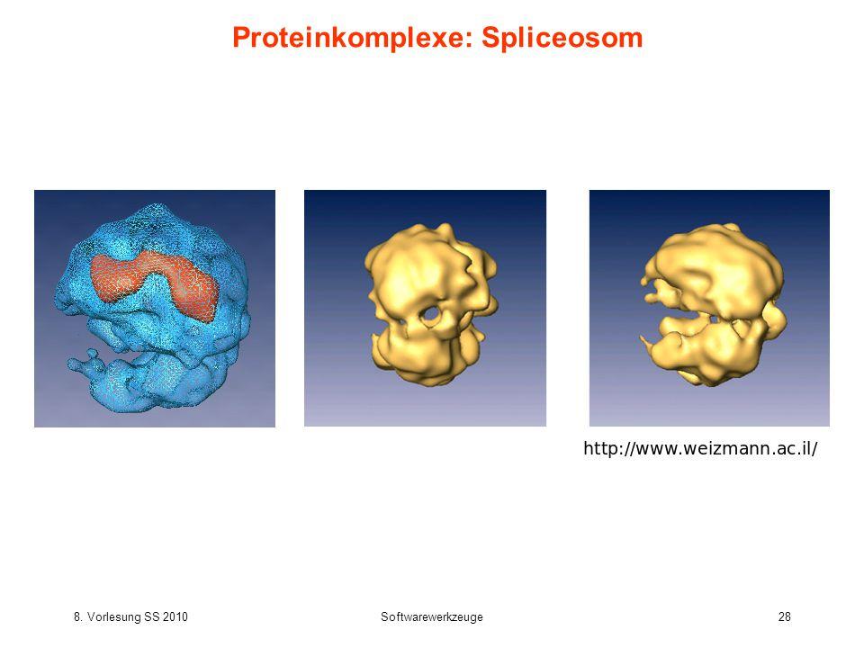 8. Vorlesung SS 2010Softwarewerkzeuge28 Proteinkomplexe: Spliceosom