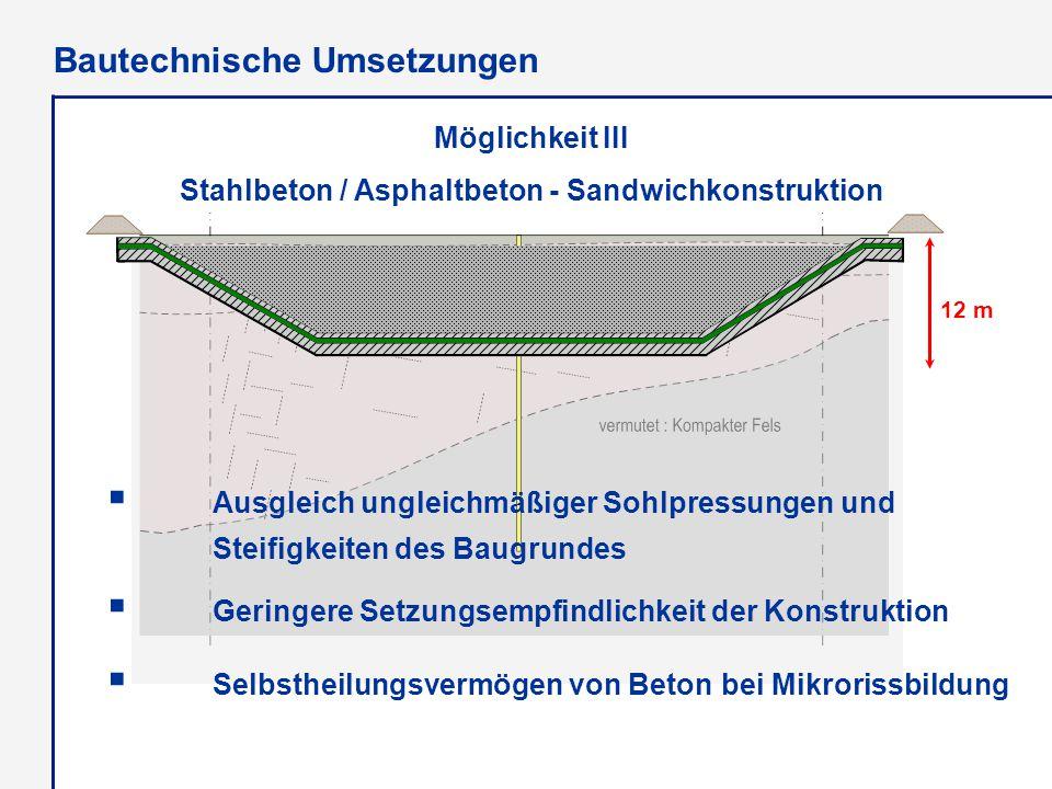  Ausgleich ungleichmäßiger Sohlpressungen und Steifigkeiten des Baugrundes  Geringere Setzungsempfindlichkeit der Konstruktion  Selbstheilungsvermö