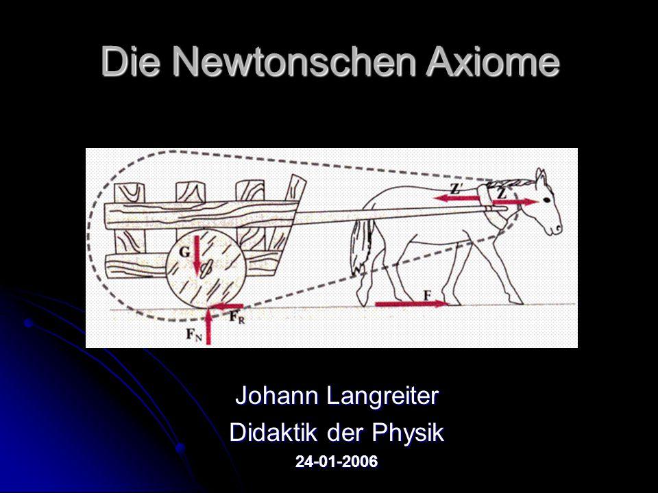 Die Newtonschen Axiome Johann Langreiter Didaktik der Physik 24-01-2006
