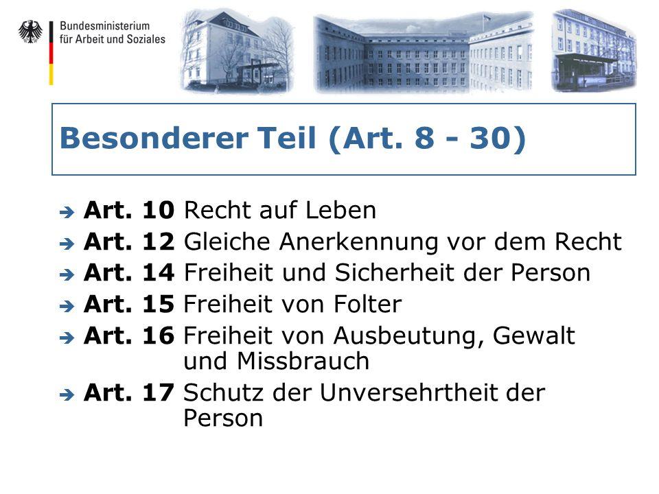 Besonderer Teil (Art. 8 - 30) è Art. 10 Recht auf Leben è Art.
