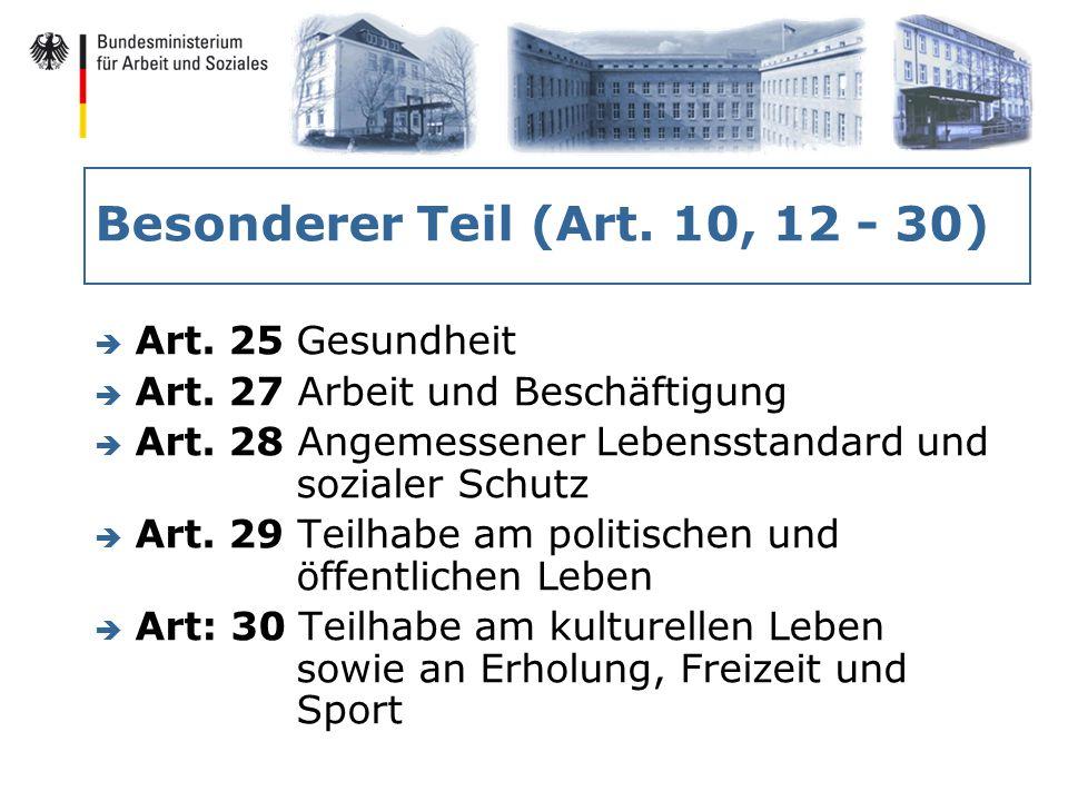 Besonderer Teil (Art. 10, 12 - 30) è Art. 25 Gesundheit è Art.