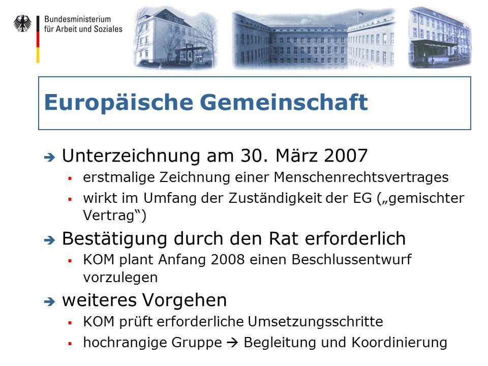 Europäische Gemeinschaft è Unterzeichnung am 30.