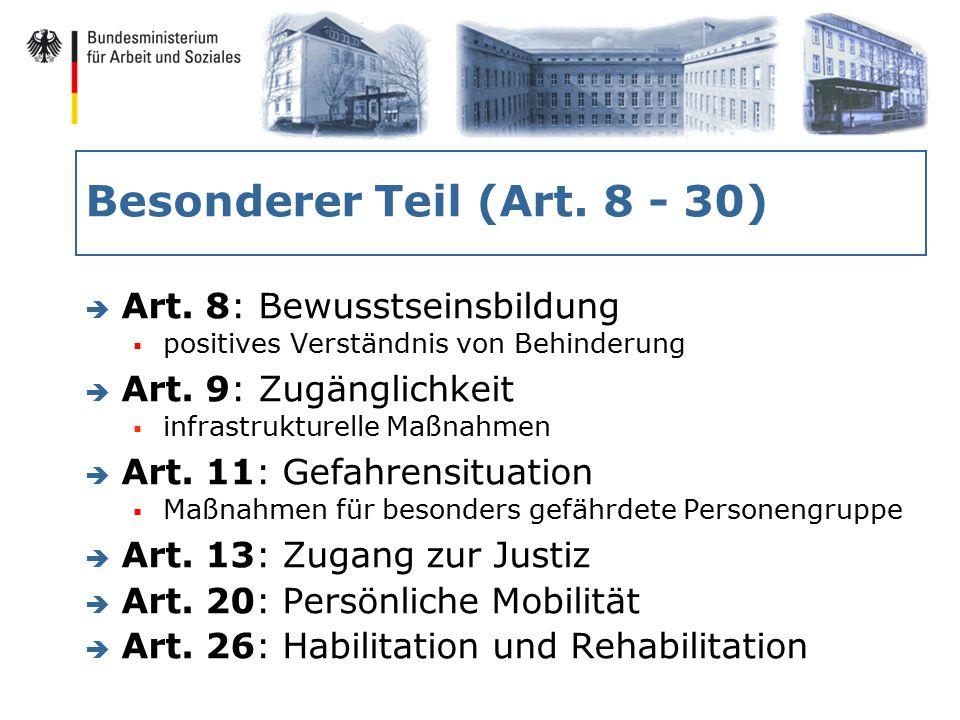 Besonderer Teil (Art. 8 - 30) è Art.