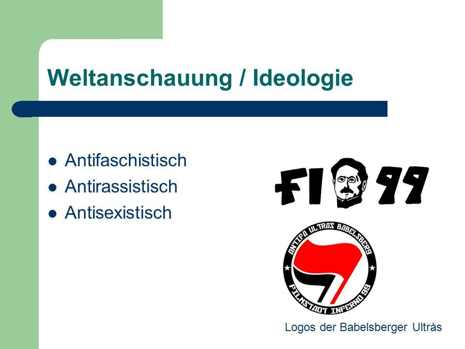 Weltanschauung / Ideologie Antifaschistisch Antirassistisch Antisexistisch Logos der Babelsberger Ultràs