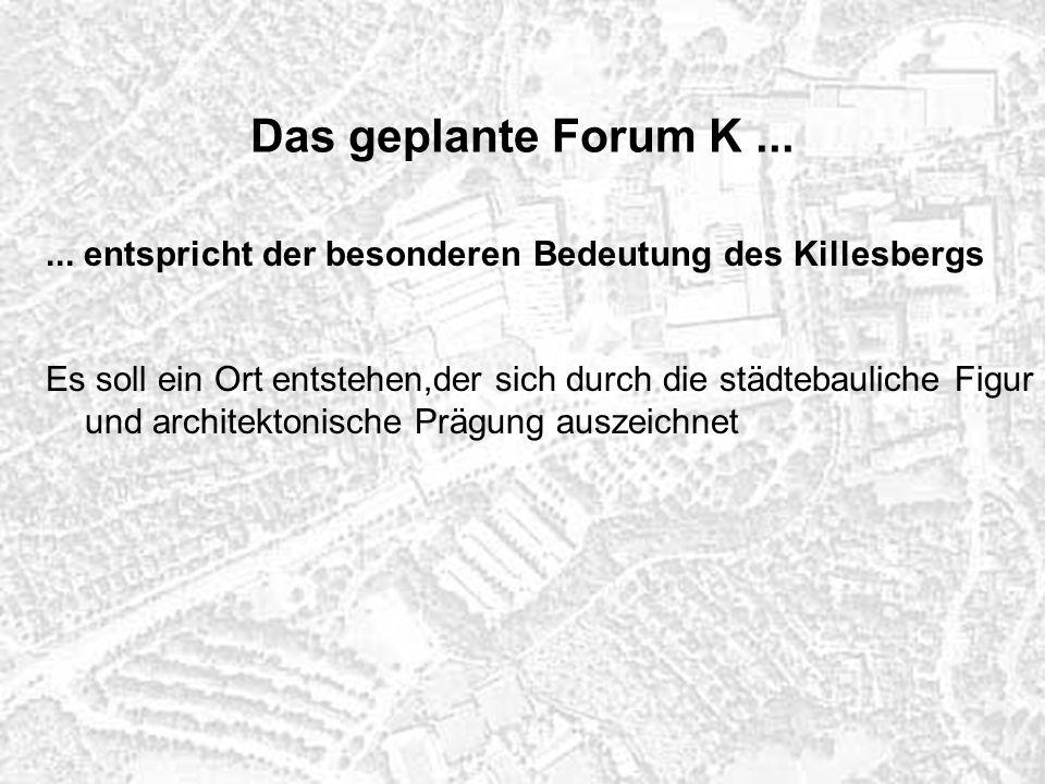 Lage des Wettbewerbsentwurf von Pesch/Blanek/Lohrberg im Bestand Forum K
