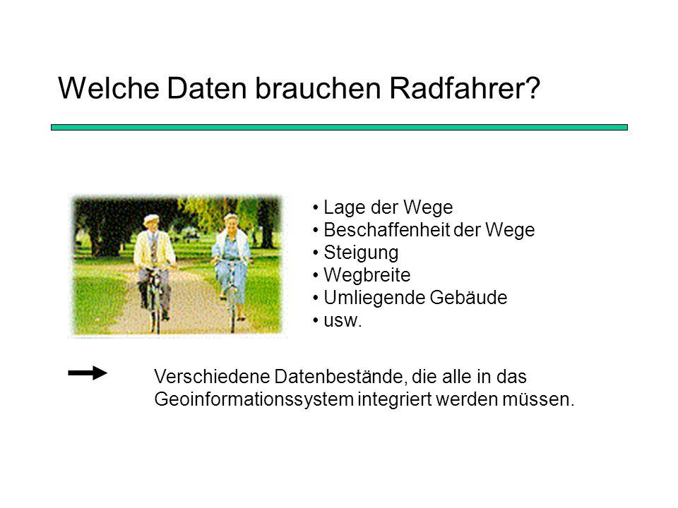 Welche Daten brauchen Radfahrer.