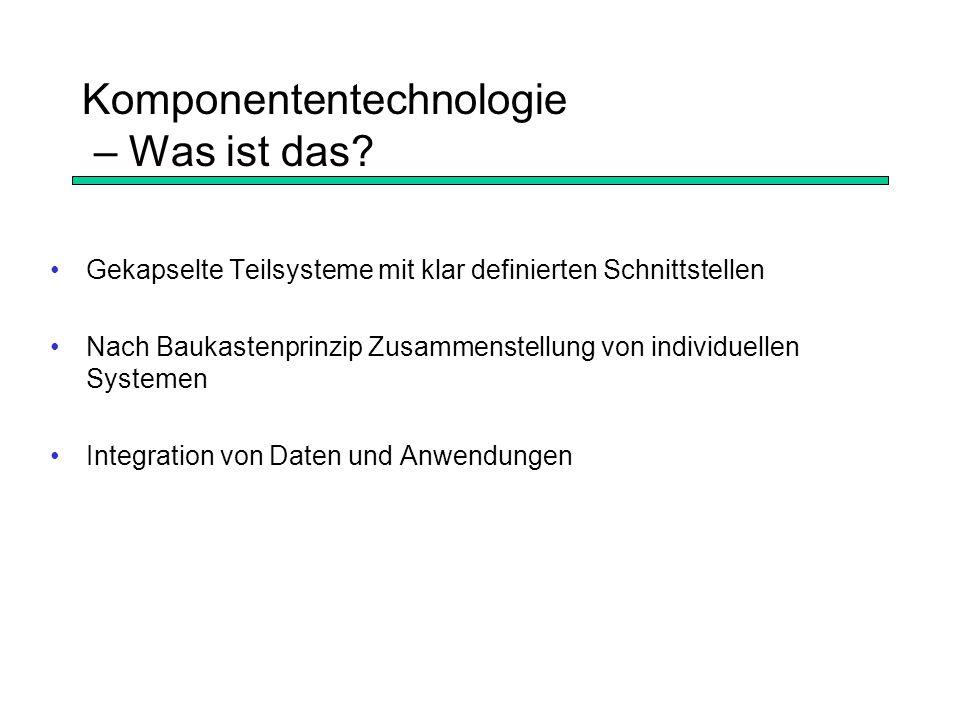 Komponententechnologie – Was ist das.