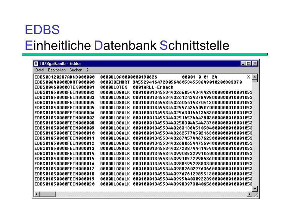 EDBS Einheitliche Datenbank Schnittstelle