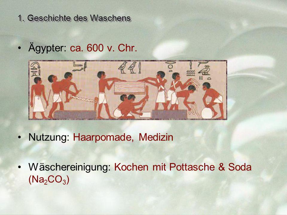 1.Geschichte des Waschens Ägypter: ca. 600 v. Chr.