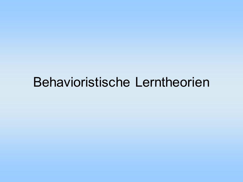 Behavioristische Lerntheorien