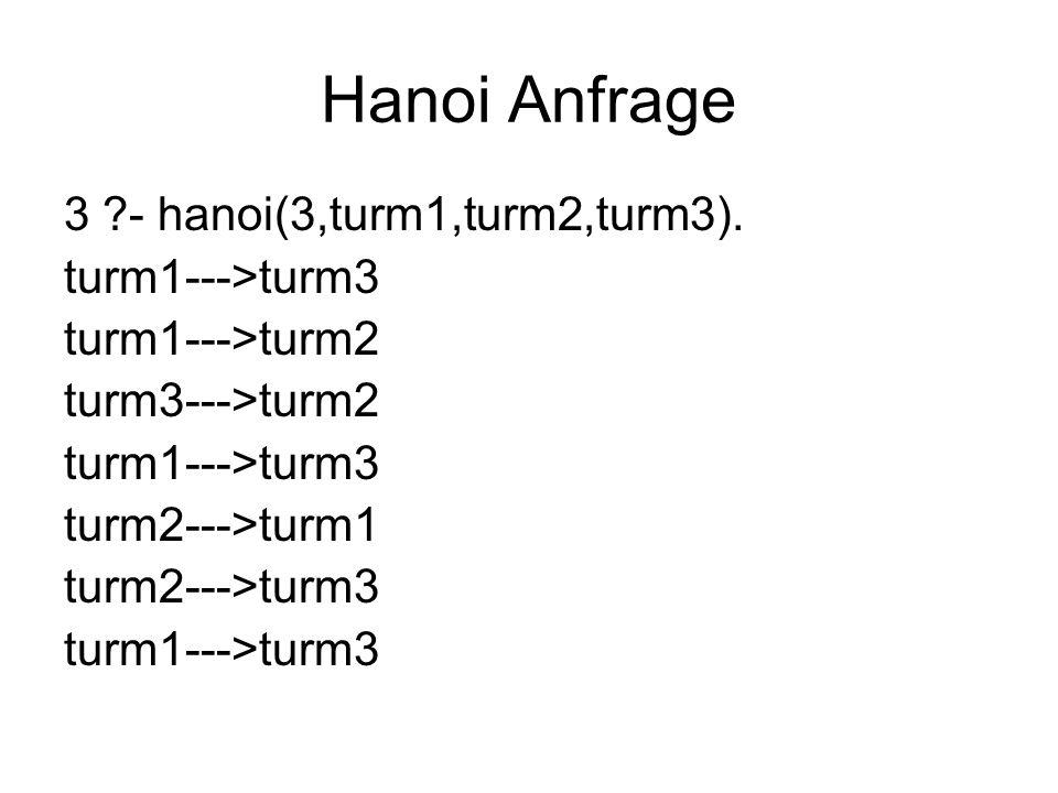 Hanoi Anfrage 3 - hanoi(3,turm1,turm2,turm3).