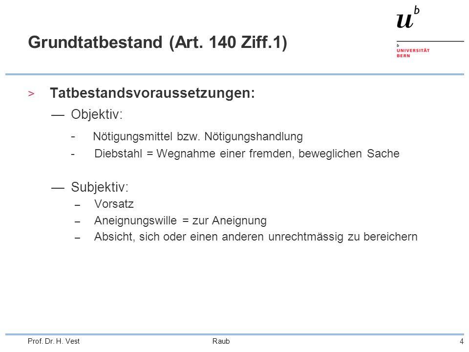 Raub 4 Prof. Dr. H. Vest Grundtatbestand (Art.