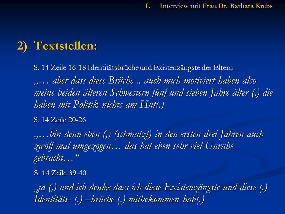 2)Textstellen: S.