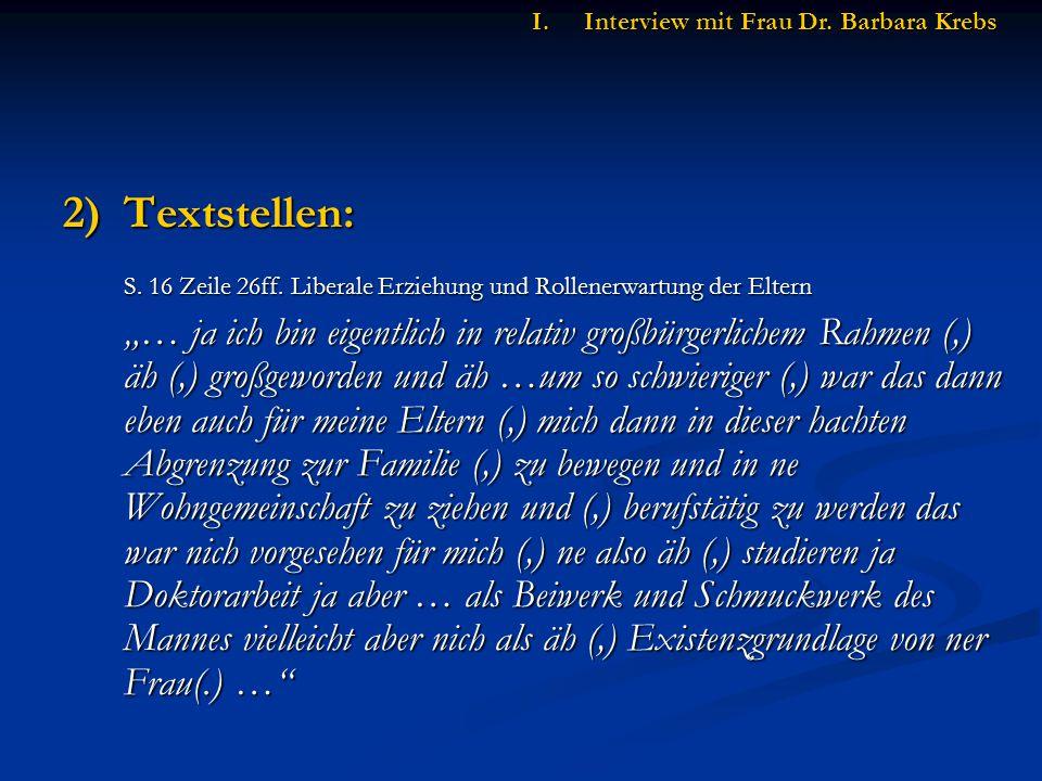 2)Textstellen: S.16 Zeile 26ff.