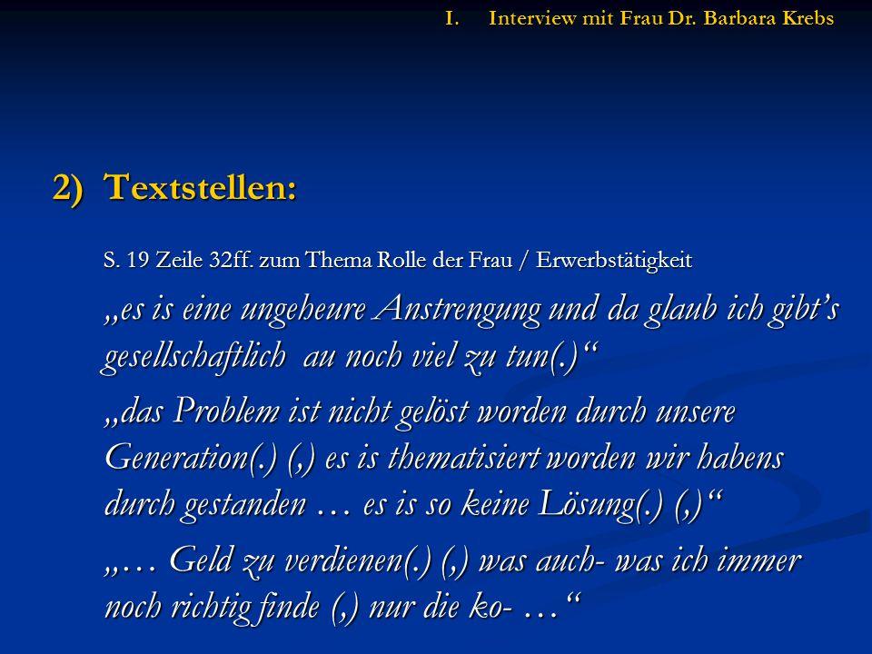 2)Textstellen: S.19 Zeile 32ff.