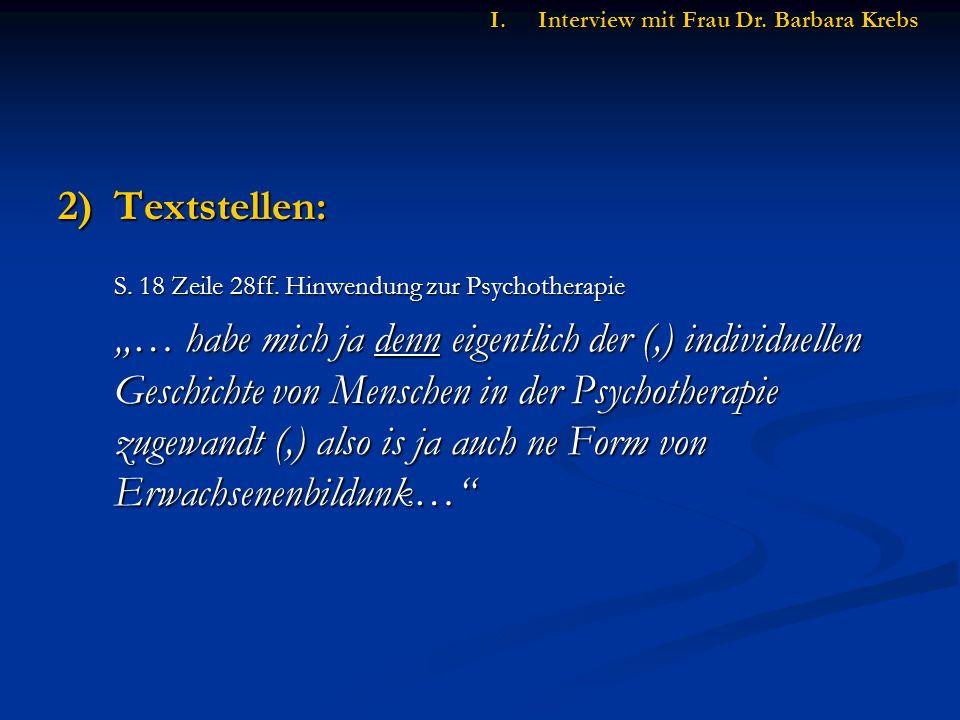 2)Textstellen: S. 18 Zeile 28ff.