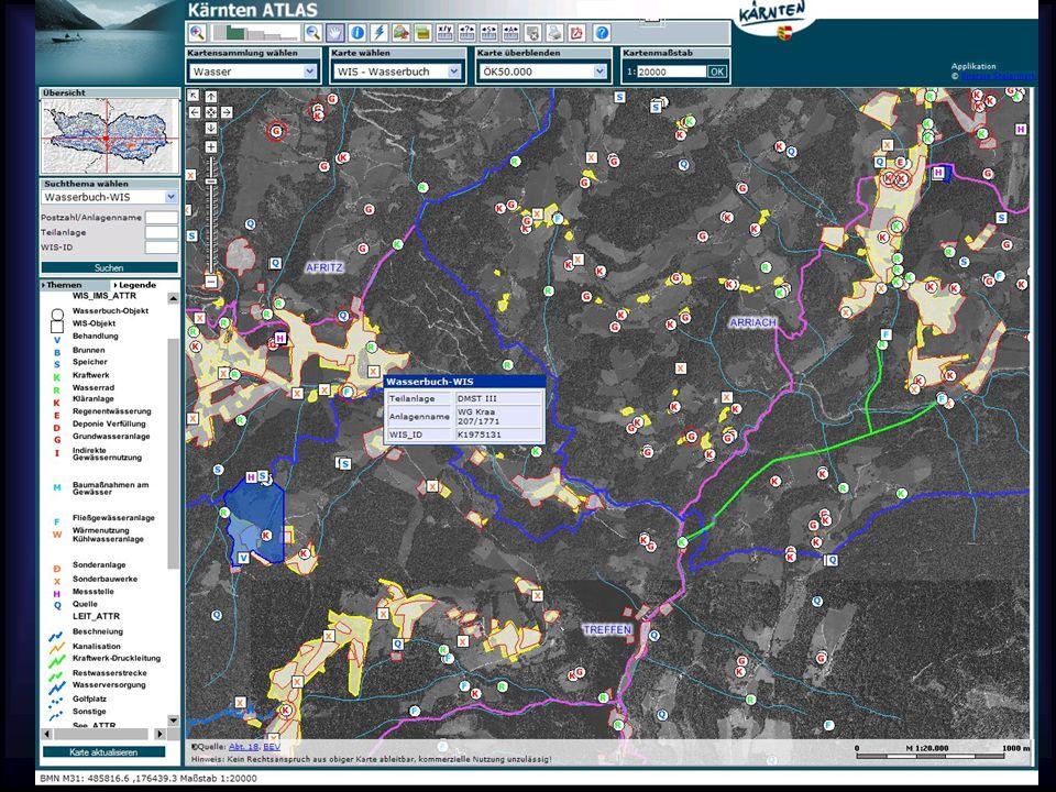 15.07.2015 13 Beispiele – Bundesländer-GIS Kärnten-Atlas – Wasserbuch –http://gis.ktn.gv.at/atlas/(S(3znfdpjqhe32rb qe1o3y2145))/init.aspx?ks=wa&karte