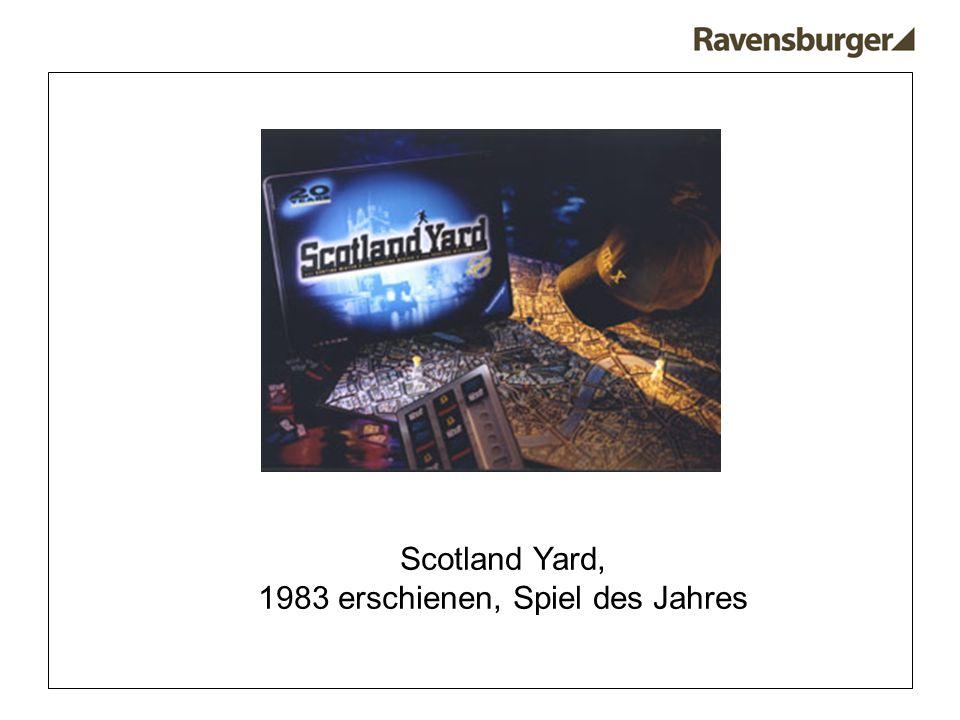 Scotland Yard, 1983 erschienen, Spiel des Jahres