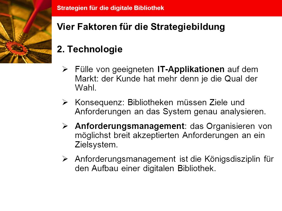 Strategien für die digitale Bibliothek 2.