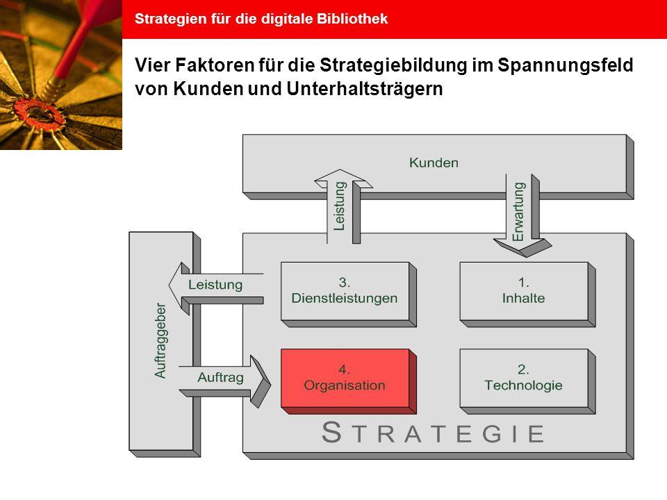 Strategien für die digitale Bibliothek Vier Faktoren für die Strategiebildung im Spannungsfeld von Kunden und Unterhaltsträgern