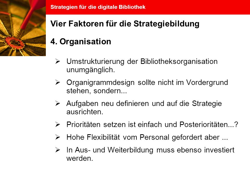 Strategien für die digitale Bibliothek 4.
