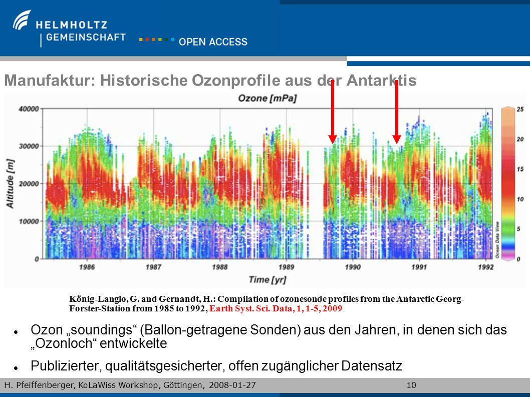 "H. Pfeiffenberger, KoLaWiss Workshop, Göttingen, 2008-01-2710 Manufaktur: Historische Ozonprofile aus der Antarktis Ozon ""soundings"" (Ballon-getragene"