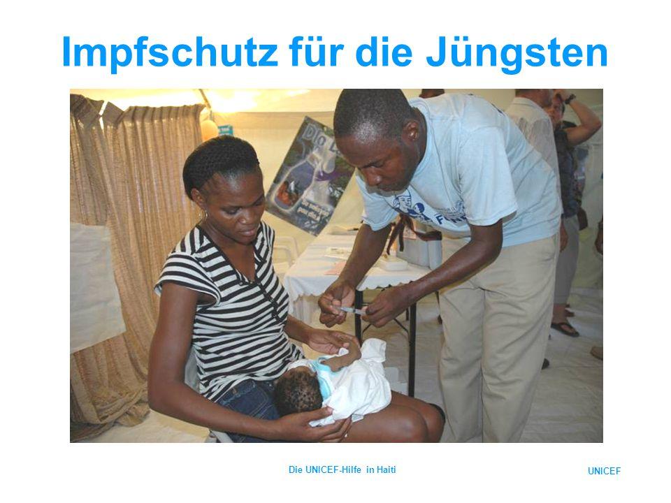 UNICEF Die UNICEF-Hilfe in Haiti Impfschutz für die Jüngsten