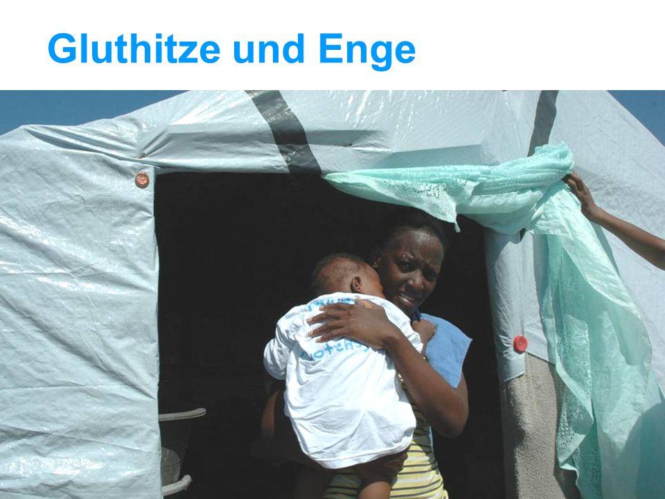 UNICEF Die UNICEF-Hilfe in Haiti Gluthitze und Enge