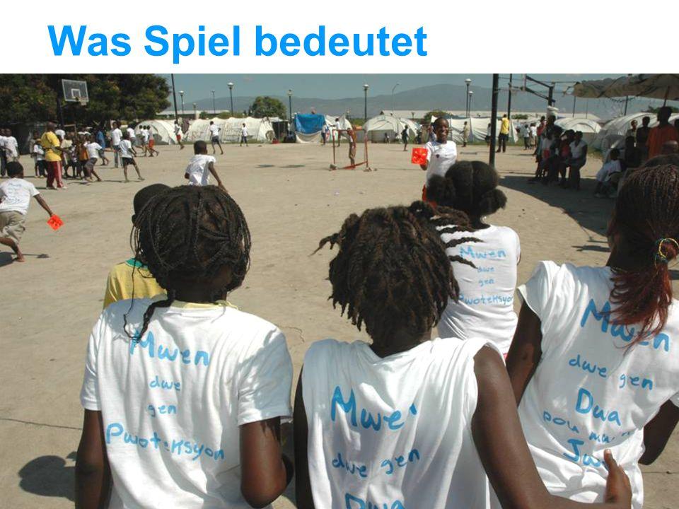 UNICEF Die UNICEF-Hilfe in Haiti Was Spiel bedeutet