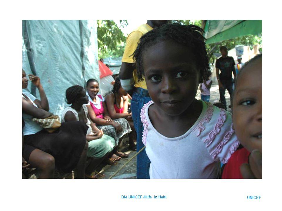 UNICEF Die UNICEF-Hilfe in Haiti