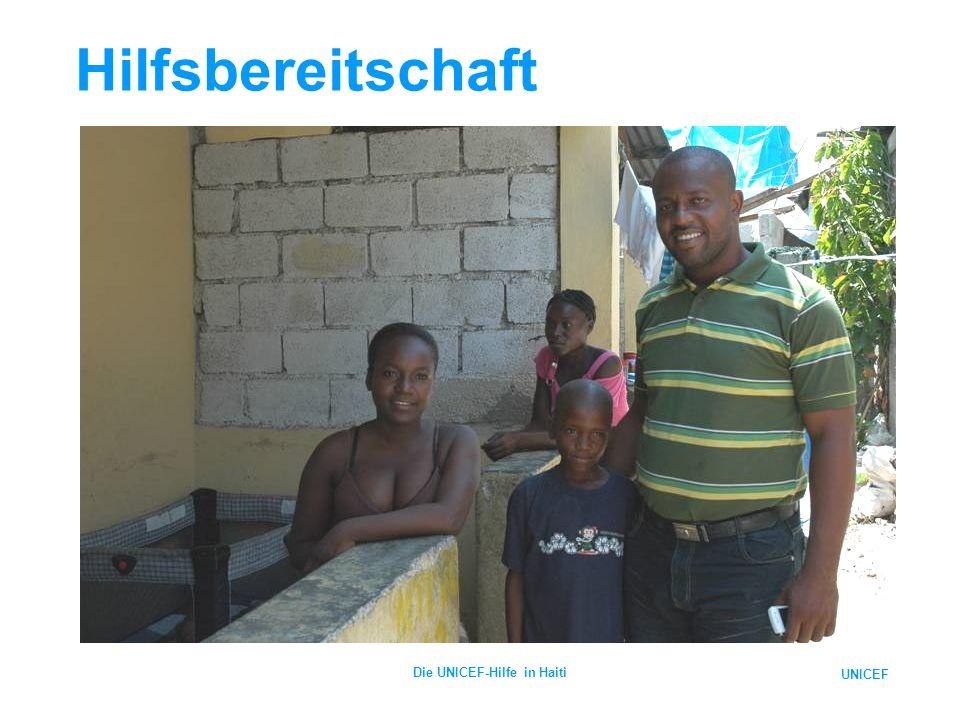UNICEF Die UNICEF-Hilfe in Haiti Hilfsbereitschaft
