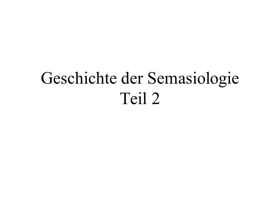 Semasiologie/Onomasiologie Semasiologie: Ausgangspunkt: das Wort (lautliche Form) Untersuchung: die damit verknüpften Inhalte (Bedeutungen) in ihrer Vielfalt (Polysemie) und in ihrem Wandel  Bedeutungswandel