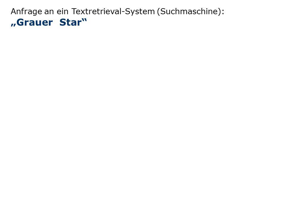 """Anfrage an ein Textretrieval-System (Suchmaschine): """"Grauer Star"""""""