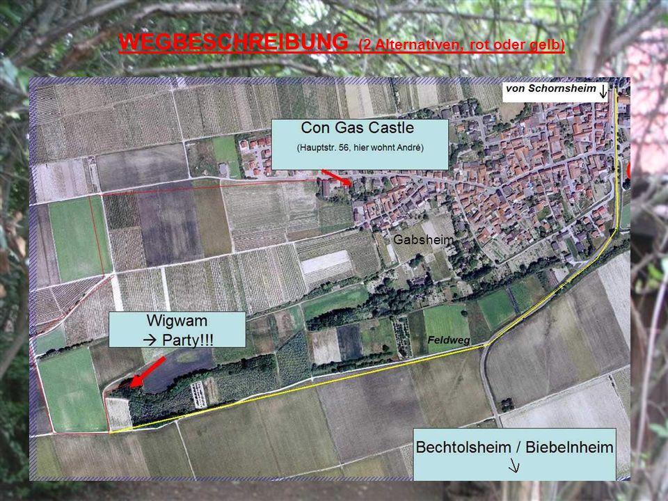 WEGBESCHREIBUNG (2 Alternativen, rot oder gelb) Gabsheim